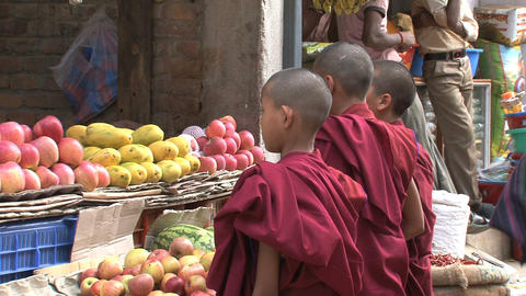 Child monks Stock Video Footage