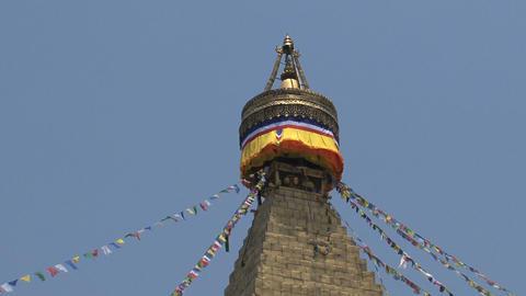 Top of the Boudha stupa in Kathmandu Footage