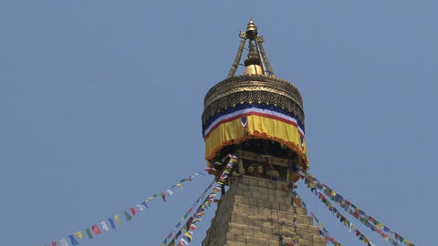 Top of the Boudha stupa Footage