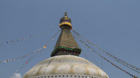 Wide shot of the Boudha stupa Stock Video Footage