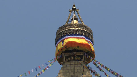 Top of the Boudha stupa Stock Video Footage