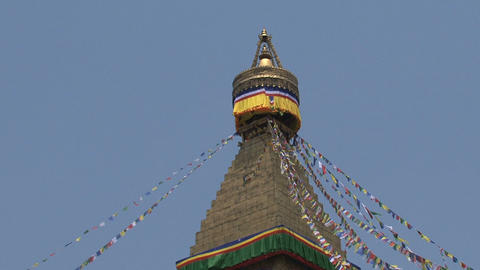 Boudhanath stupa Stock Video Footage