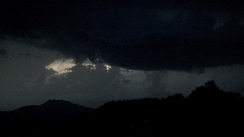 Lightning Above The Mountain stock footage
