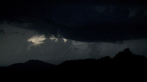 Lightning above the mountain Stock Video Footage