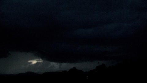 Lightning above the mountain at night Stock Video Footage