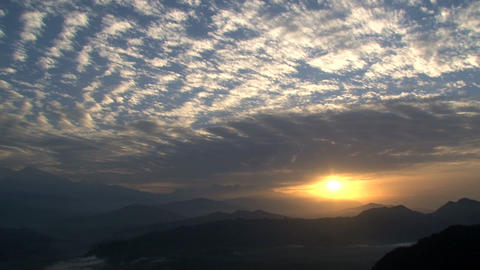 Mountain sunrise Stock Video Footage