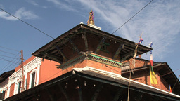 Rooftop of a temple Stock Video Footage