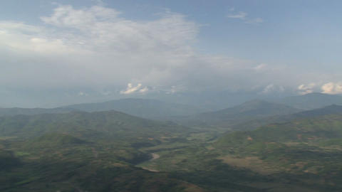 Pan from the Annapurna Range of the Himalayas Stock Video Footage