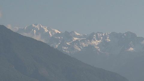 Zoom-out himalaya mountain range Stock Video Footage