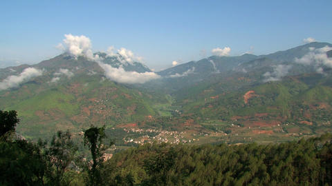Nuwakot valley view time lapse Stock Video Footage