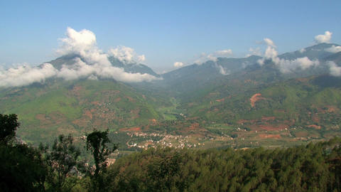 Nuwakot valley view time lapse Stock Video Footage