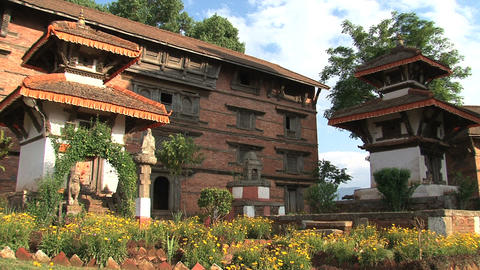 Temple within Nuwakot Durbar Square Stock Video Footage