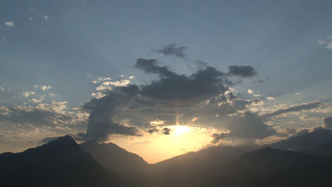 Beautiful sunset in Nepal Stock Video Footage
