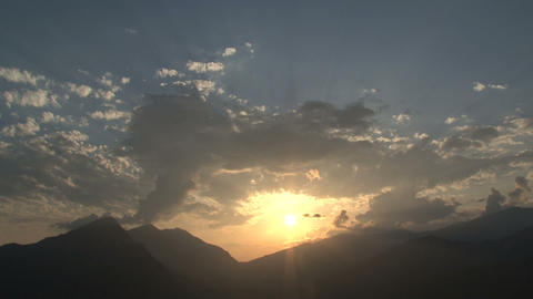 Beautiful sunset in Nepal Footage