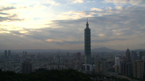 taipei 101 tower timelapse Stock Video Footage