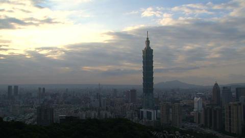 taipei 101 tower timelapse Stock Video Footage