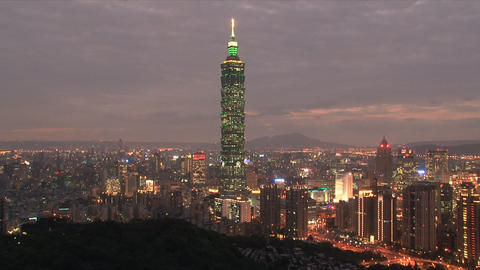 taipei 101 tower timelapse at night Footage