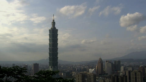 taipei 101tower timelapse slider Stock Video Footage