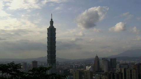 Taipei 101tower Timelapse Slider stock footage