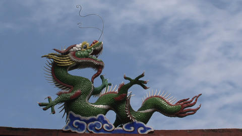 Taipei dragon confucius temple Stock Video Footage