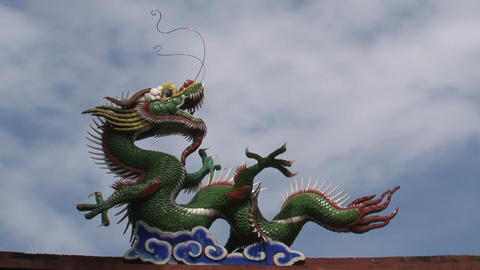 Taipei dragon confucius temple Footage