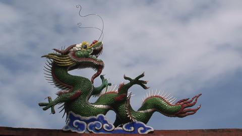 Taipei dragon confucius temple Footage