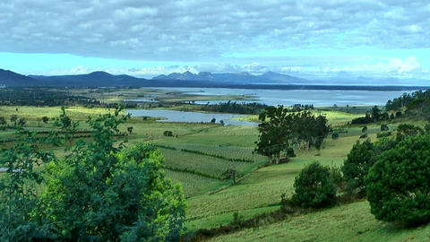 great oyster bay and freycinet peninsula at tasmania... Stock Video Footage