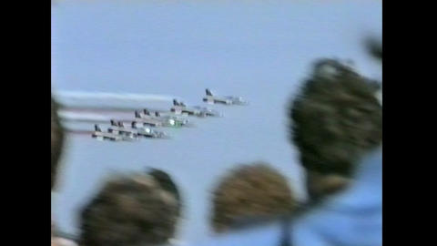 Ramstein Airshow Disaster start show 10898 Stock Video Footage