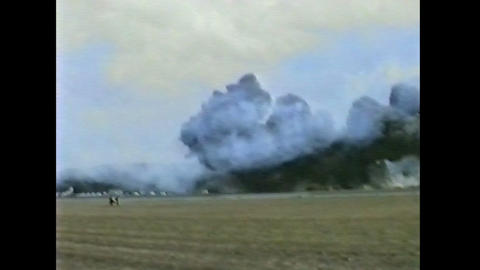 Ramstein Airshow Disaster crash 10900 Stock Video Footage