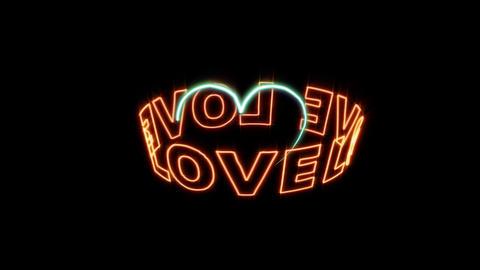love 01 CG動画素材