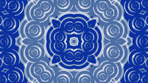 blue east circle and cloud pattern,classical China... Stock Video Footage