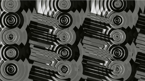 circle and round pipe,machinery... Stock Video Footage