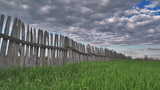 Fence Epic Time Lapse In The Spring stock footage