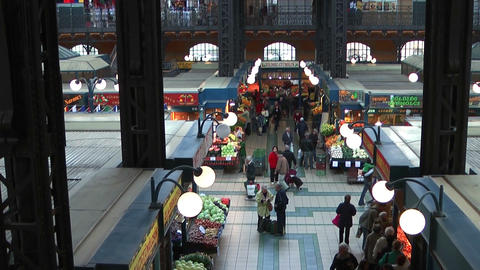 Great market hall budapest Stock Video Footage