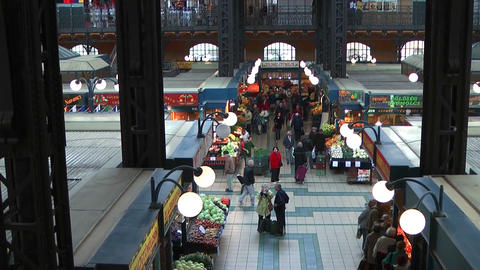 Great Market Hall Budapest  stock footage