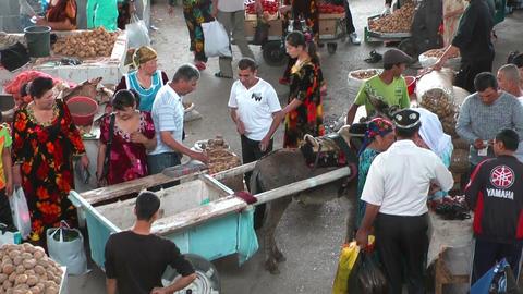 samarkand bazar and market Stock Video Footage