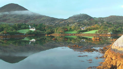 Landscape At Ring Of Kerry In Ireland stock footage