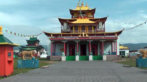 temple at Ivolginsky Datsan Stock Video Footage