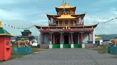 Temple At Ivolginsky Datsan stock footage