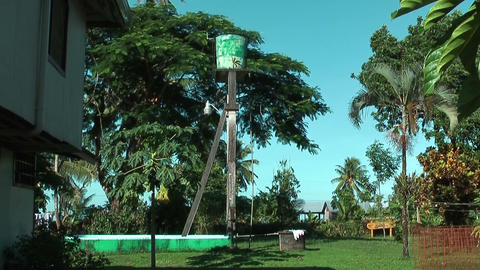 Overhead Water Tank in Tortuguero, Costa Rica Stock Video Footage