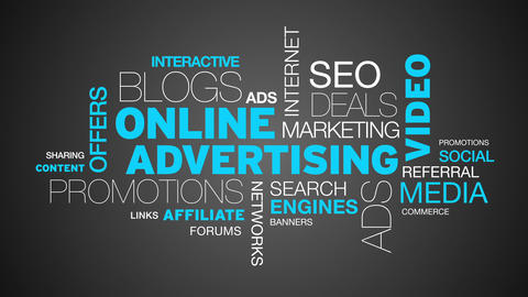 Online Advertising Word Cloud Animation Animation