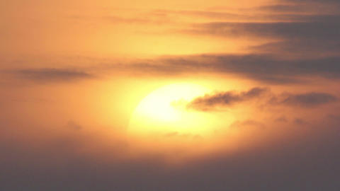 Sunset with clouds, evening Stock Video Footage