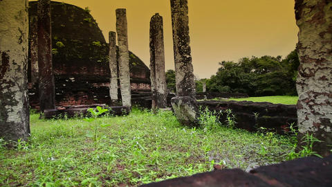 Polonnaruwa ancient city Stock Video Footage