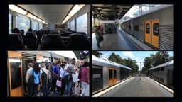 City Rail Trains Stock Video Footage