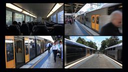 City Rail Trains stock footage