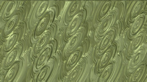 golden mercury ripple in pond.abstract,backgrounds,animation Stock Video Footage