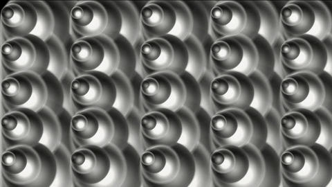 rotation metal cone and bubble background,silver machine... Stock Video Footage