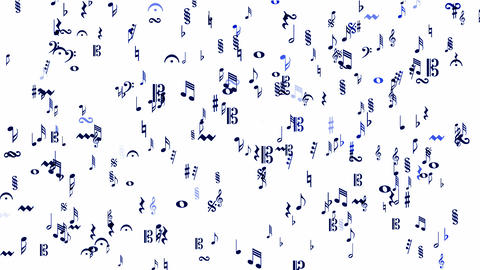 Music Notes and treble clef Animation