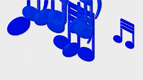Plastic Music Notes and treble clef Animation