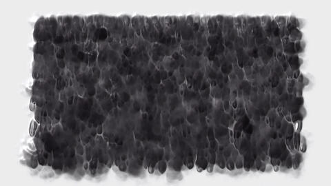smoke and falling carbon liquid,waterfall and black ink,smog and mist Animation